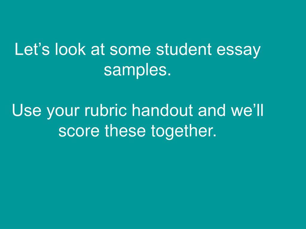 ged essay score rubric