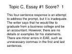 topic c essay 1 score 1