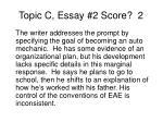 topic c essay 2 score 2