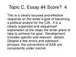 topic c essay 4 score 4