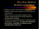 how does medical reimbursement work