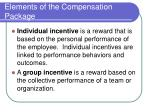 elements of the compensation package
