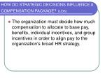 how do strategic decisions influence a compensation package lo6