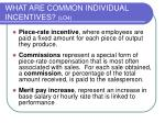 what are common individual incentives lo4