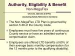 authority eligibility benefit non megaflex