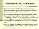 coordination of ltd benefits
