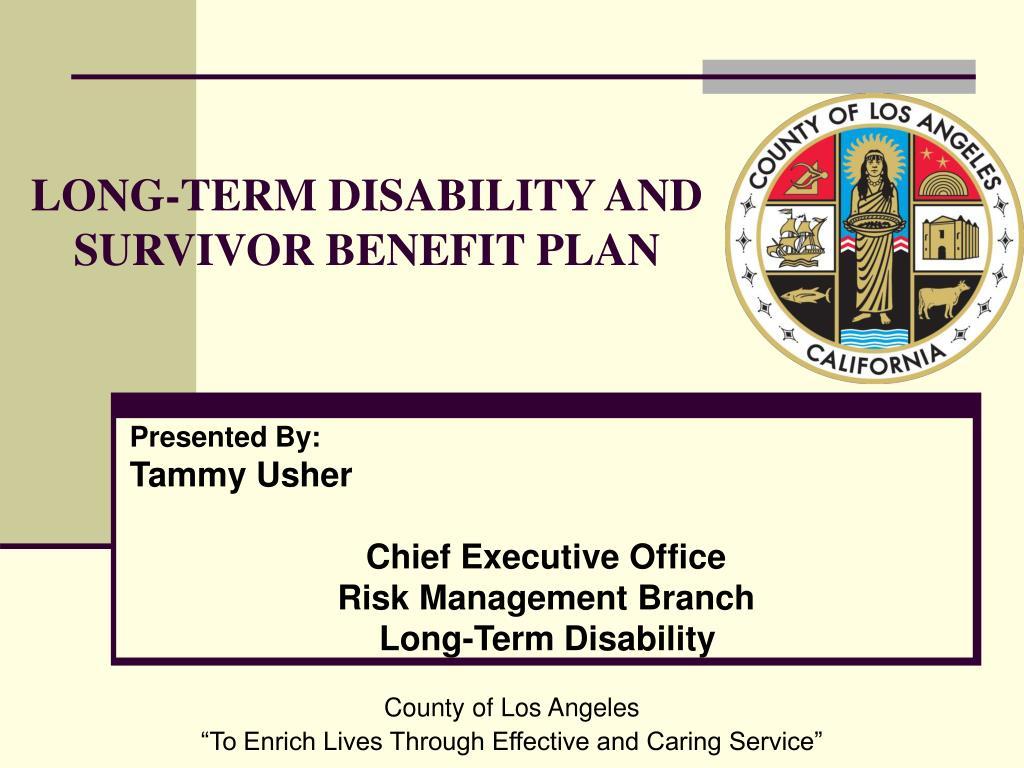 long term disability and survivor benefit plan l.