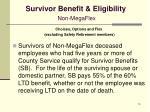 survivor benefit eligibility non megaflex