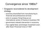 convergence since 1980s