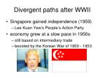 divergent paths after wwii