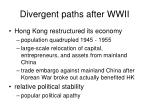 divergent paths after wwii13