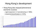 hong kong s development