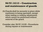 56 57 14112 construction and maintenance of guards50