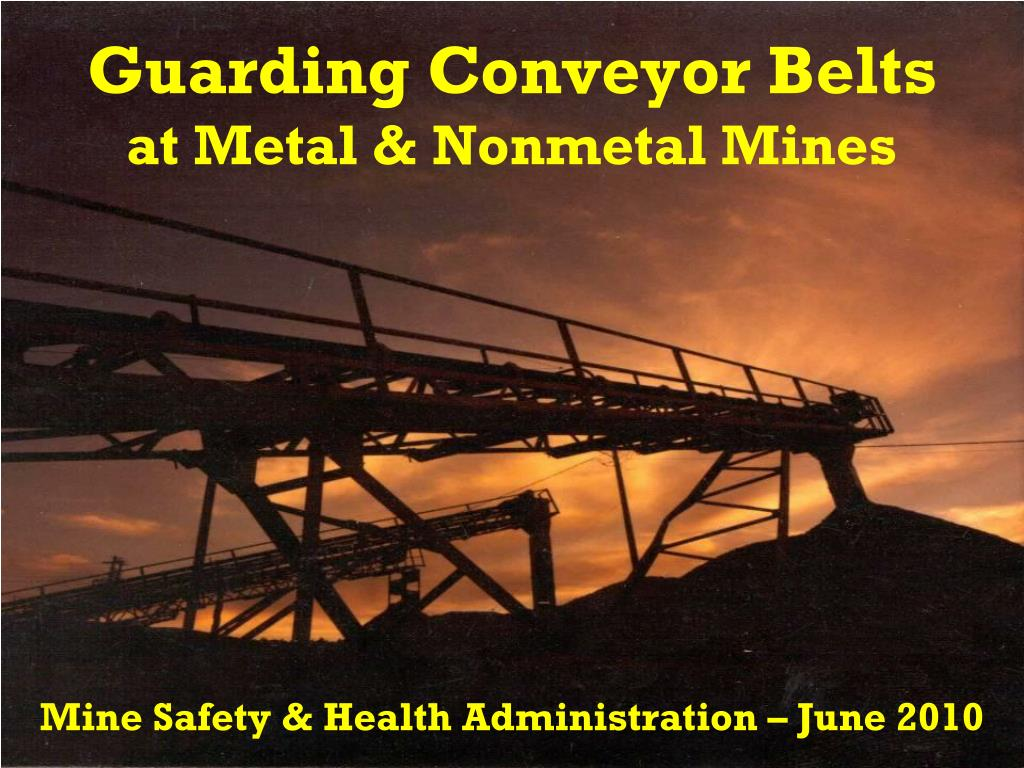 guarding conveyor belts at metal nonmetal mines l.