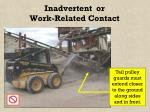 inadvertent or work related contact21