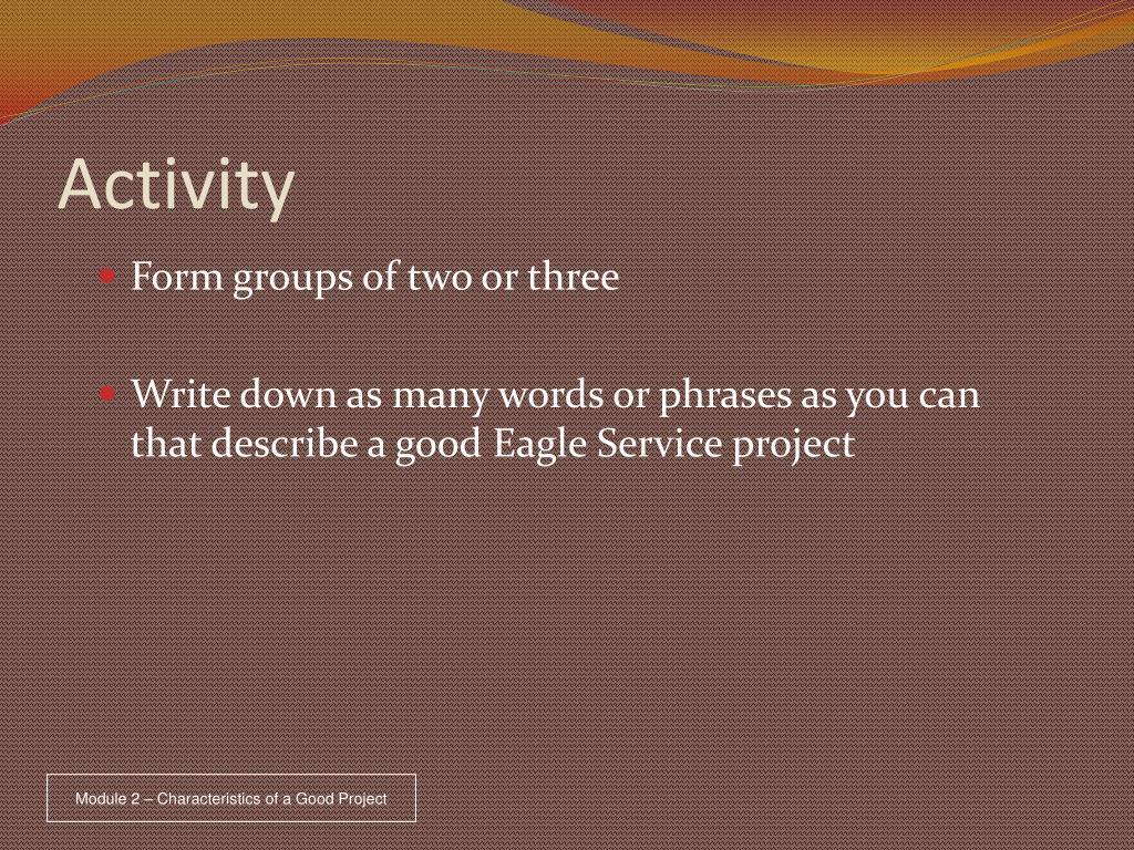 activity l.