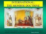 international the monroe doctrine