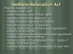 uniform relocation act