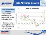 india air cargo growth