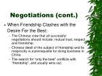 negotiations cont