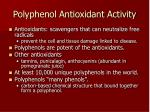 polyphenol antioxidant activity