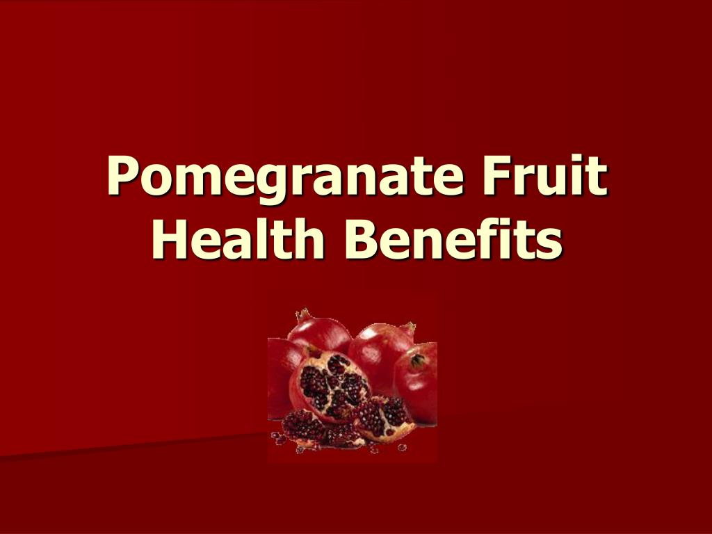pomegranate fruit health benefits l.