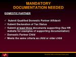 mandatory documentation needed5