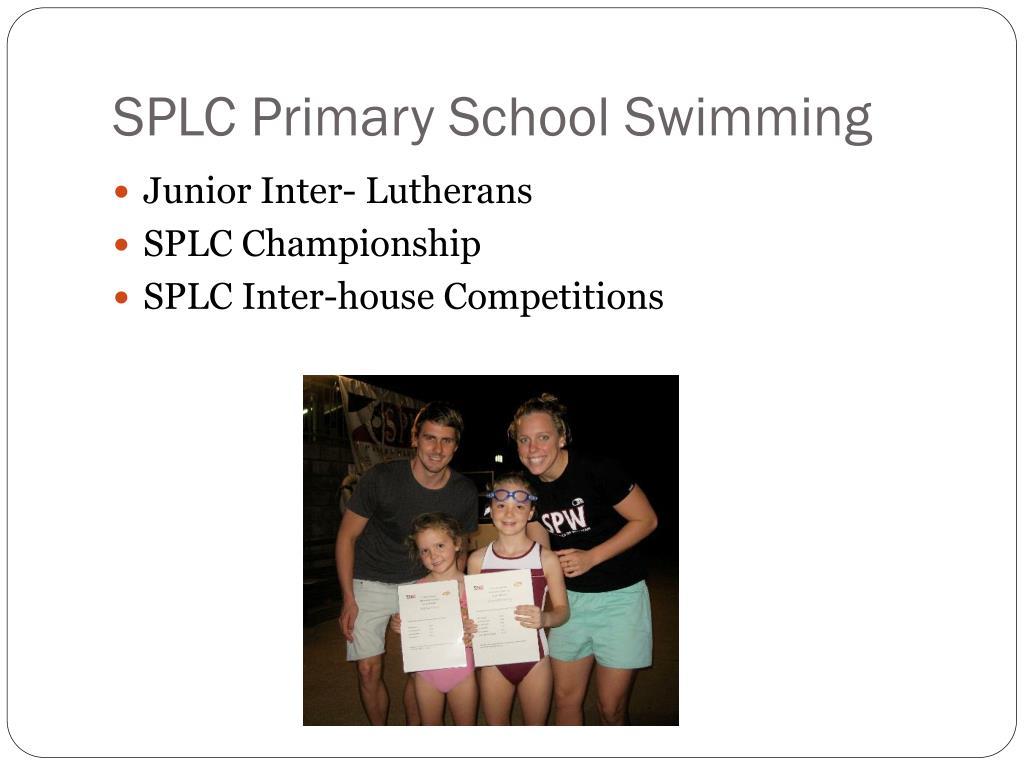 SPLC Primary School Swimming