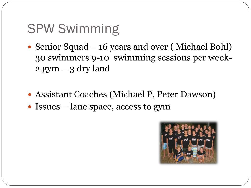 SPW Swimming