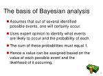 the basis of bayesian analysis