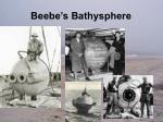 beebe s bathysphere
