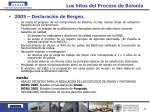 los hitos del proceso de bolonia34