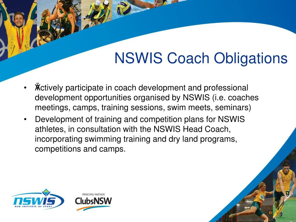 NSWIS Coach Obligations