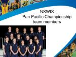 nswis pan pacific championship team members
