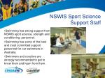 nswis sport science support staff