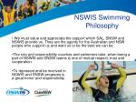 nswis swimming philosophy