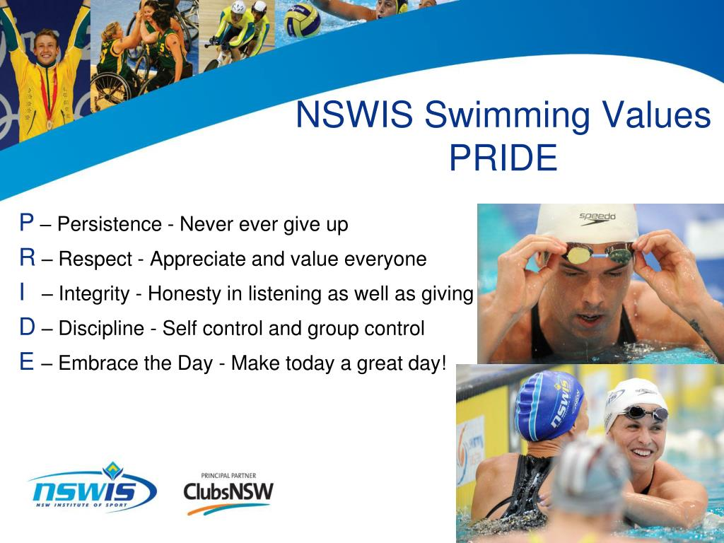 NSWIS Swimming Values