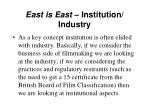 east is east institution industry