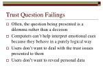 trust question failings