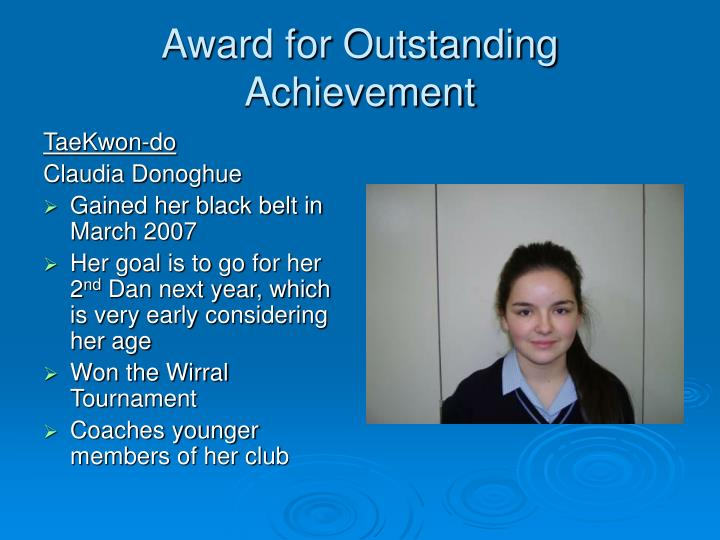 Award for Outstanding Achievement