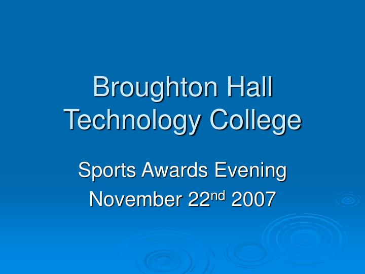 broughton hall technology college n.