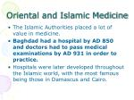 oriental and islamic medicine