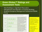 green globes ratings and assessment tools