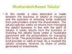 mudharabah based takaful