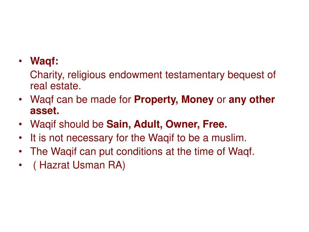 Waqf: