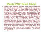 wakala waqf based takaful