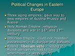 political changes in eastern europe