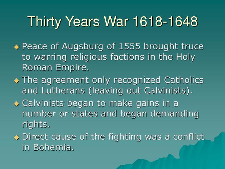 Thirty years war 1618 1648