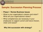 sample succession planning process