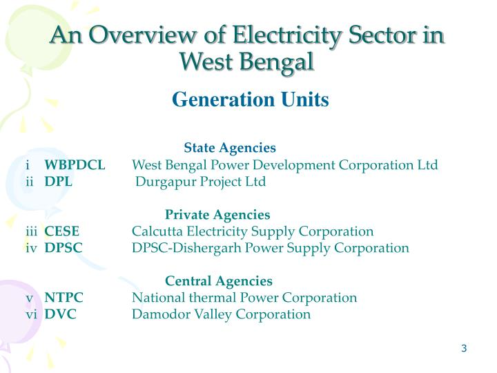 An overview of electricity sector in west bengal
